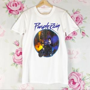NEW Prince Purple Rain Retro Graphic Tee Shirt